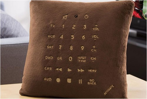 pillow to control your TV and DVD