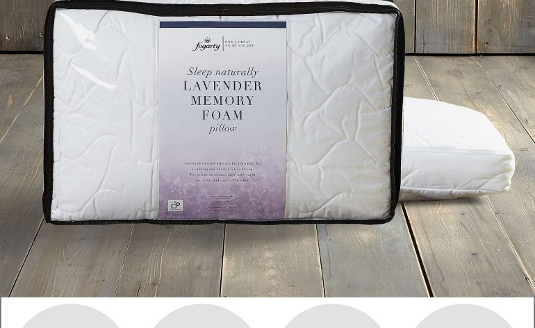 Fogarty lavender scented memory foam pillow review