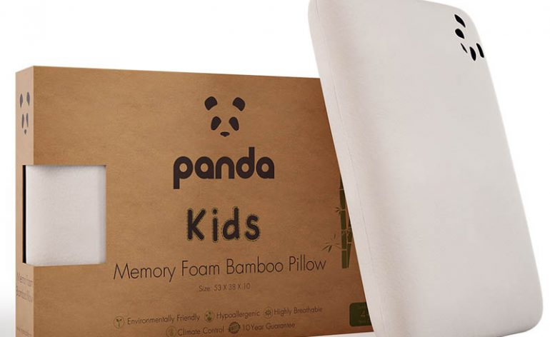 Panda-Kids-Memory-Foam-Bamboo-Pillow