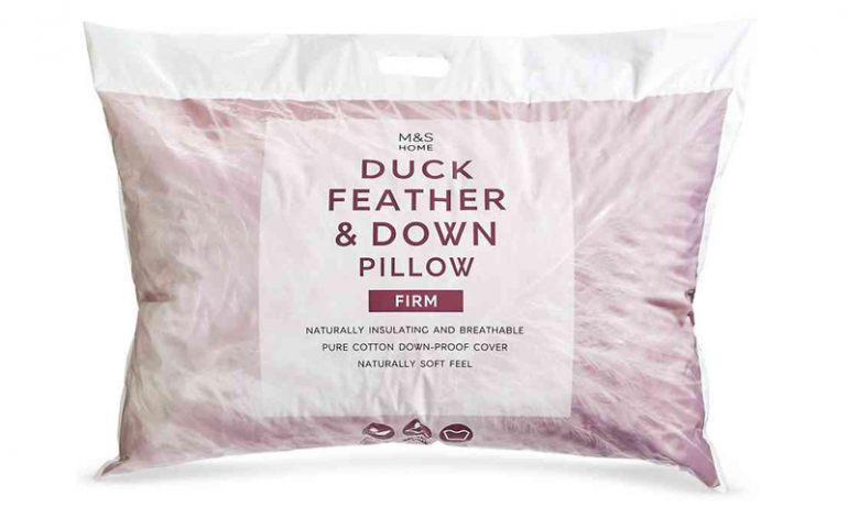 M&S Duck Feather & Down Pillow review