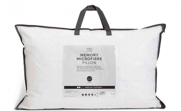 M&S-Memory-Microfibre-Pillow review