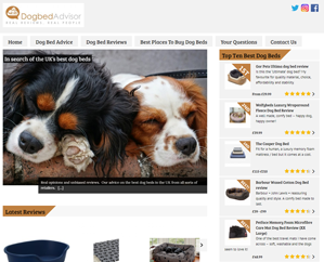 Dog-bed-Advisor-homepage