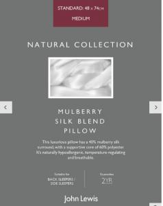 John Lewis Mulberry Silk pillow