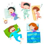 Mixed sleeping styles