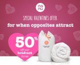 Valentine's Day offer – 50% off partner 'hot&not' bedding
