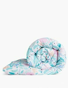 Supremely washable floral pillowcase and duvet